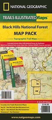 National Geographic Black Hills National Forest Map Pack Bundle By National Geographic Maps - Trails Illustrated (COR)